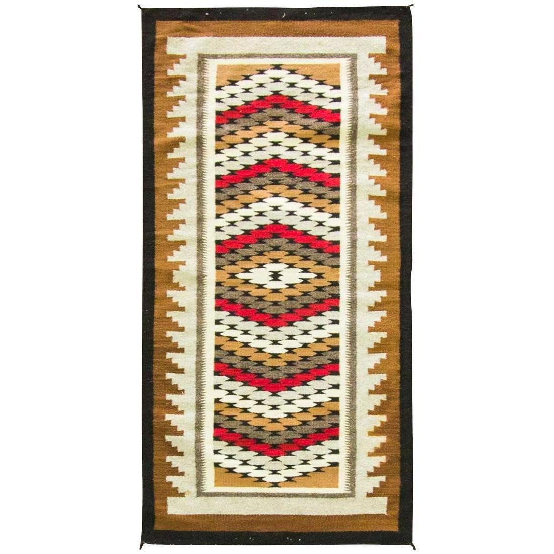 "2'6"" x 5'2"" Wonderful Navajo Rug, c-1920's"