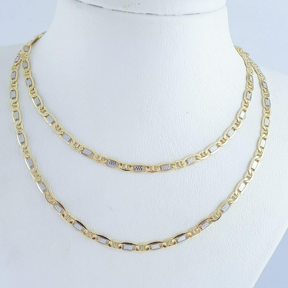 14K Yellow and White Gold - Necklace