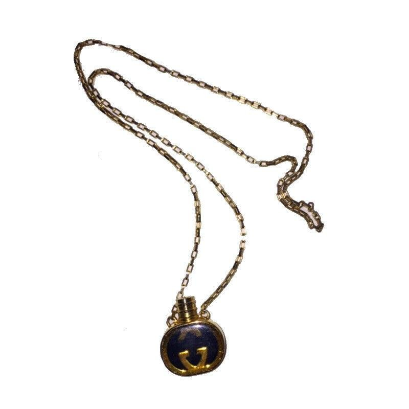 Gucci Enameled Perfume Bottle Necklace