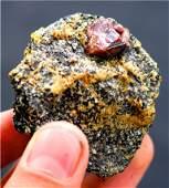 Zircon Crystal On Matrix , Zircon Specimen From