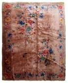 Handmade antique Art Deco Chinese rug 8.9