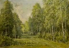 Oil painting Forest landscape Mikhail Valentinovich