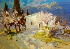 Oil painting Spring Alexander Nikolaevich Volkov
