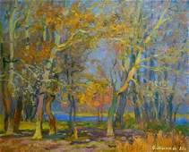 Oil painting Gold autumn Mynka Alexander Fedorovich