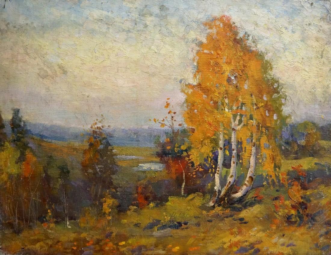 Oil painting Autumn Mynka Alexander Fedorovich