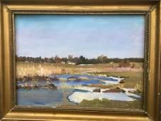 Oil painting Pond Field Ivanenko Vladimir Mikhailovich