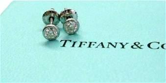 Tiffany&Co Elsa Peretti Platinum Diamond Studs