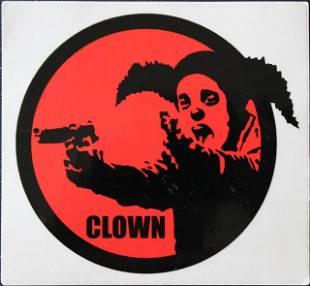 Banksy, 'Clown Skateboards sticker,' ca. 2001
