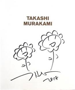 Takashi Murakami Double Flowers drawing 2018