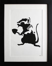 After Banksy | Rat Stencil  (2002)