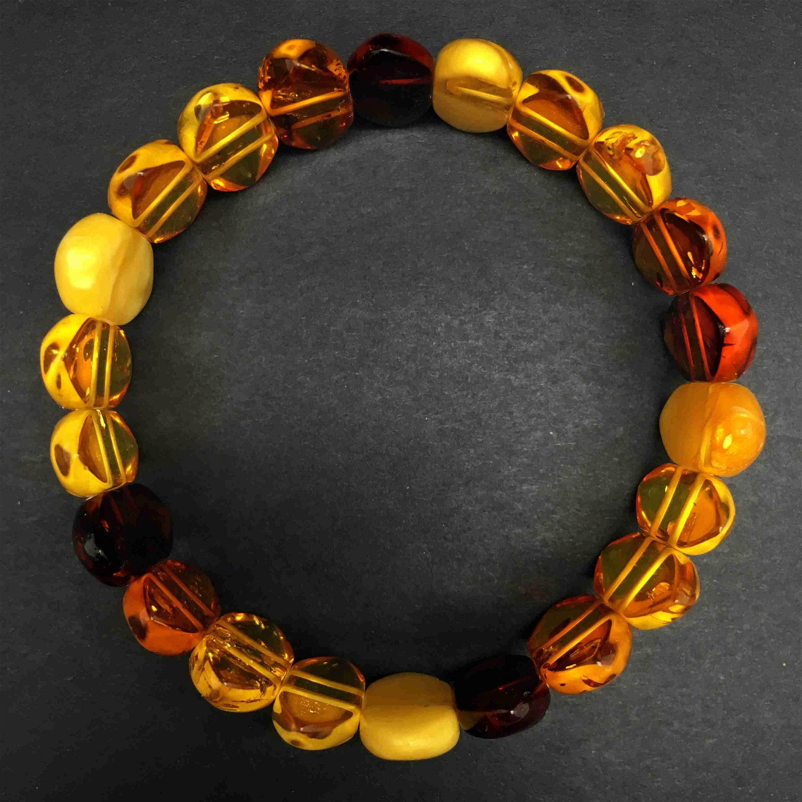 Splendid Unique Vintage Amber Bracelet made from Hand