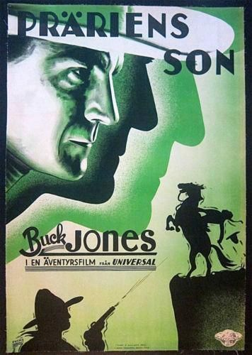 A MAN SEES RED - 1934 SWEDISH LB POSTER - AMAZING BUCK