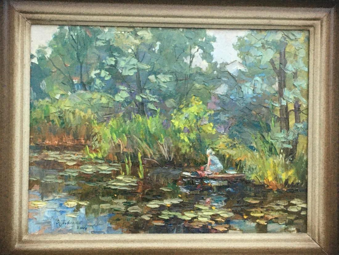 Oil painting Cleaning Pivtorak Sergey