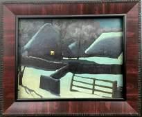 Oil painting Winter landscape Tsyupka Ivan Kirillovich