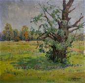 Oil painting Willow Grigoryev Sergey Alekseevich