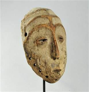 Rare Beautiful idimu LEGA Bwami Cult Wood Mask Congo