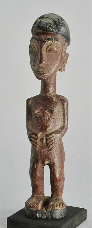 Ivory Coast BAULE figure statue African Art Baoule 1013