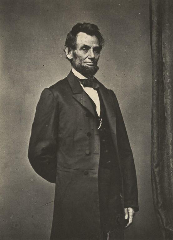 MATHEW BRADY - Portrait of Abraham Lincoln