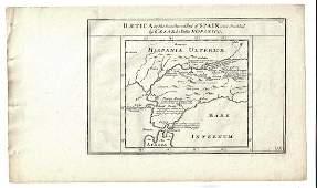 1747 Map of Baetica Ancient Spain