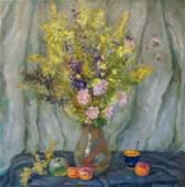 Oil painting Autumn flowers Minka Alexander Fedorovich