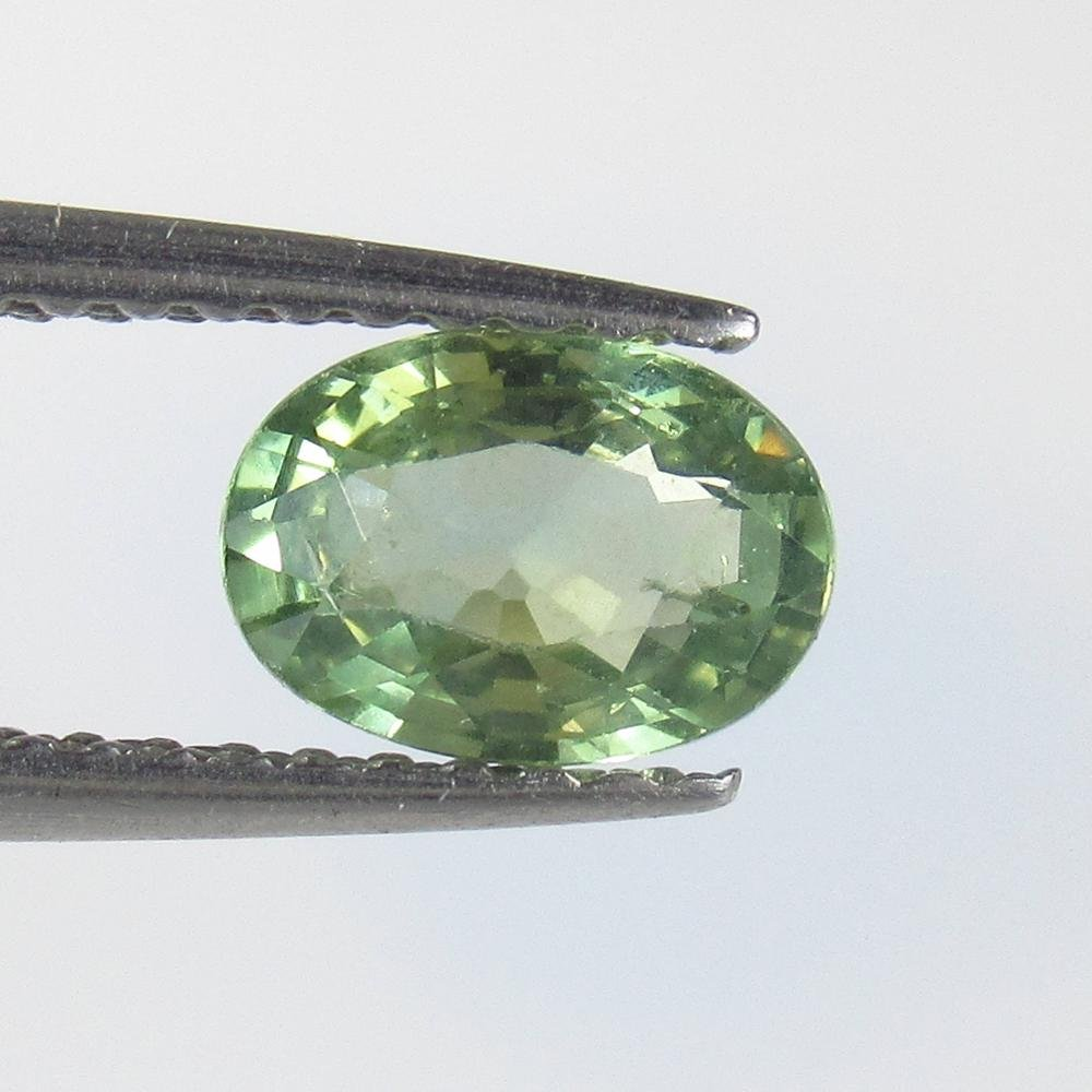 0.85 Ct Natural Green Sapphire Oval Cut