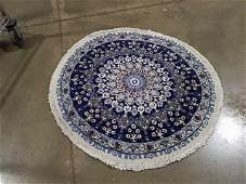 Semi Antique Hand Woven Persian Nain 3x3