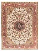 Tabriz Wool & Silk, 9'11'' X 13'10''