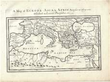 1747 Map of Ancient Europe Asia Africa
