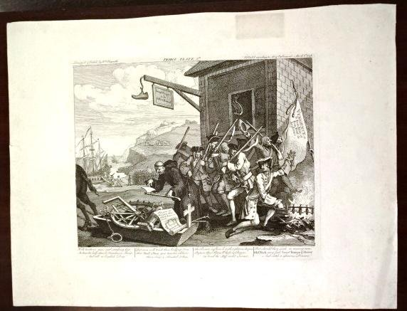 c1835 Large Hogarth Engraving France