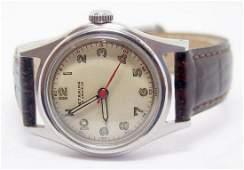S/Steel Vintage STARINA 17J Mens Winding Watch WWII