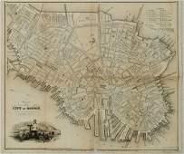 1844 Boynton Map of Boston -- Plan of the City of