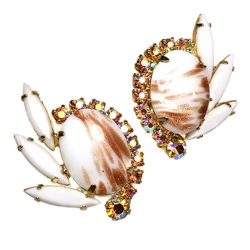D&E Juliana Earrings with Copper Fluss