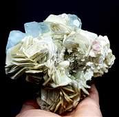 Aquamarine Specimen , Aquamarine Crystals With Pink