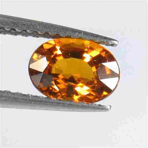 1.08 Ct Natural Ceylon Orange Sapphire Oval Cut