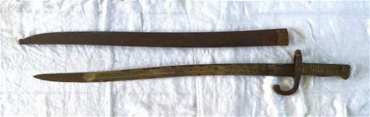 Iron & Brass Civil War Era Sabre Bayonette and Scabbard