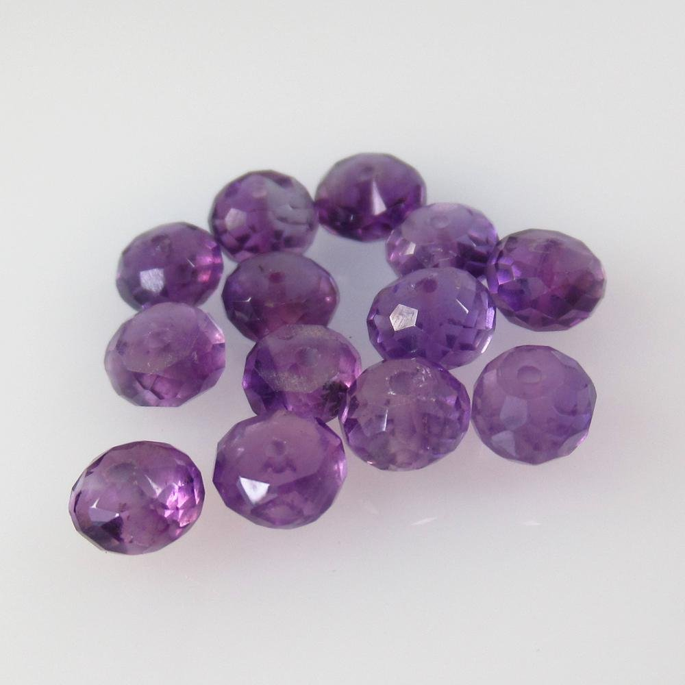 8.35 Ct Natural 13 Drilled Purple Amethyst Round Beads