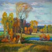 Oil painting Evening came Mynka (Minka) Alexander