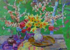 Oil painting Spring bouquet Tepeta Miacheslav