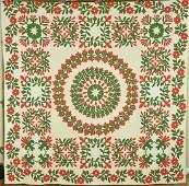 40's Red & Green Album Applique Quilt