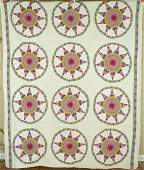 Colorful 30's Star Wheel Quilt, Small Pieces