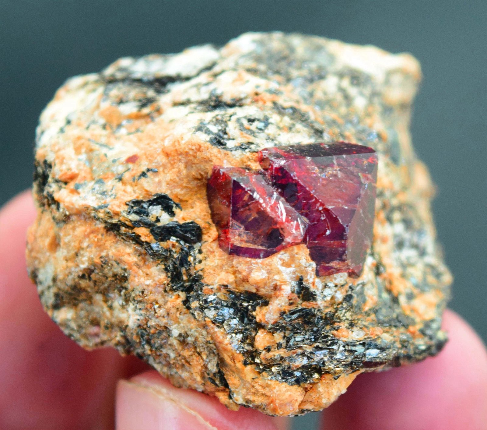 44 Gram Rare Terminated & Undamaged Blood Red Color