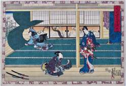 Kunisada: Genji, chapter 38