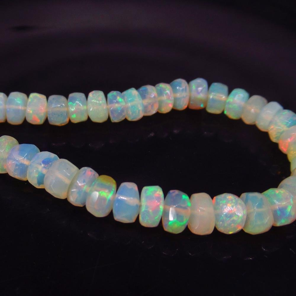 17.30 Ctw Natural 52 Drilled Faceted Opal Beads
