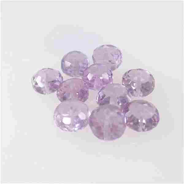 11.41 Ct Natural 10 Purple Amethyst Drilled Round Beads