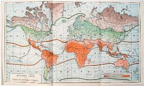 1890 c. World Climate Map -- Isothermal Curves and