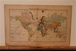1877 World Colonial Map