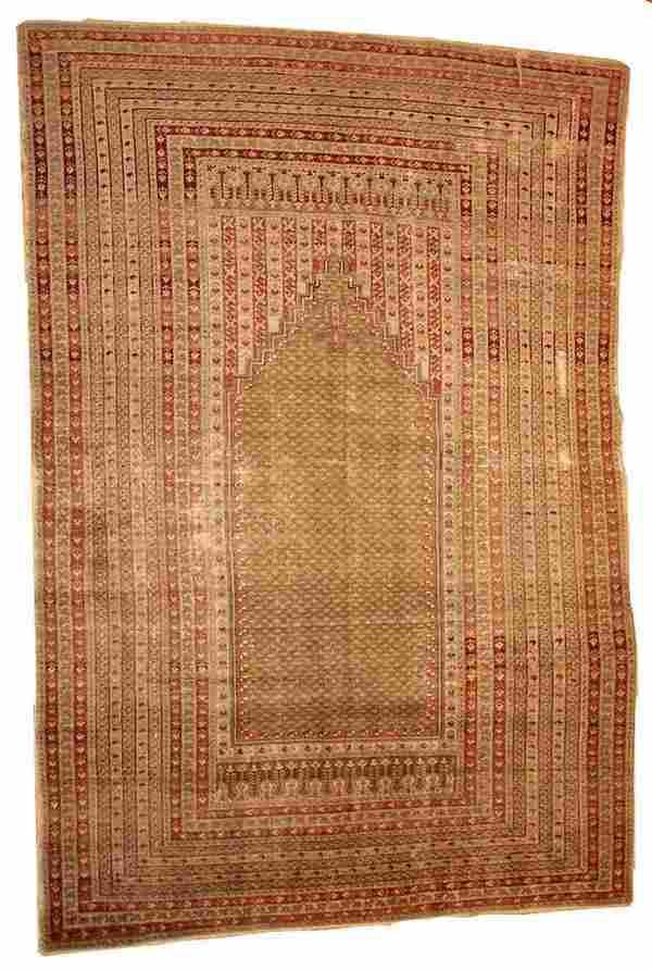Handmade antique Turkish Ghurdes prayer rug 410 x