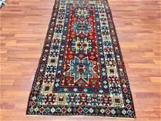 Antique Lesghi Kazak Caucasian rug4732