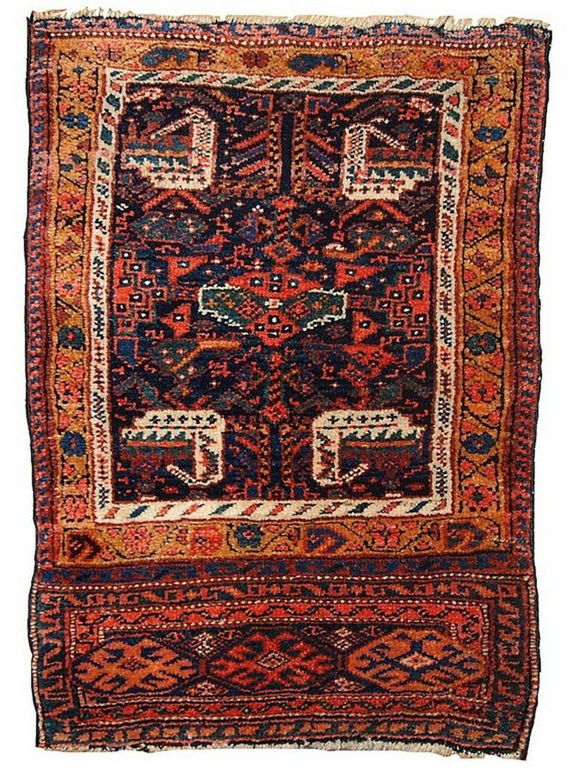 Handmade antique collectible Persian Kurdish bag face