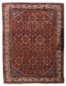 Hand made antique Persian Mahal rug 89 x 117